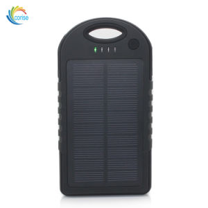 reputable site b5566 69e61 Waterproof Portable RoHS 5000mAh Solar Power Bank with Carabiner