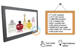 Full HD 1080P 13.3 Inch LCD Monitor with 12V DC (MW-131MB) pictures & photos