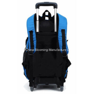 Leisure Waterproof Nylon Rolling Backpack Trolley School Bag Backpack pictures & photos