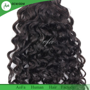 Factory Remy Hair Pieces Curly Human Hair Weft for Ladies pictures & photos