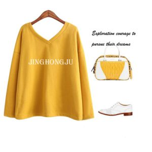 Ladies Knit, V Neck Long Sleeves Causal Shopping Pullover