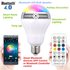 E27 Bluetooth Smart LED Bulb with Speaker and IR Remote