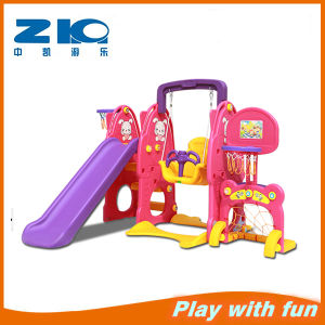 New Design Kids Plastic Slide and Swing Set pictures & photos