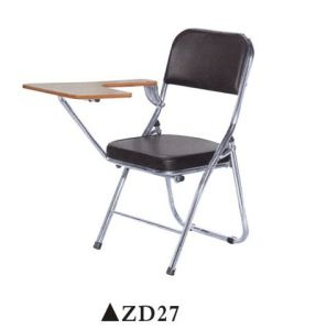 Strong Training Chair With Steel Frame Foldable Meeting Chair With Writing  Pad