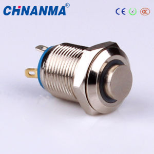 12mm Stainless Steel Raised Center Push Button Switch pictures & photos
