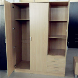 Melamine Wooden Modern Bedroom Wall Wardrobe Design