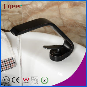 Fyeer 2015 New Fashion Design Bathroom Black Basin Faucet pictures & photos