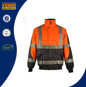 Men Winter Waterproof Hi-Vis Padded Bomb Jacket