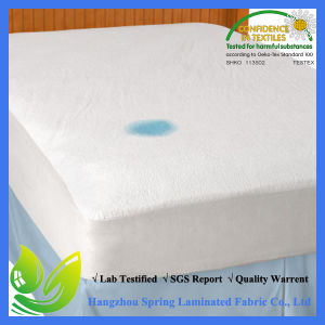 Queen Size Cotton Terry Allergy Free Waterproof Skirt Streches Mattress Protector Life Time Warrenty pictures & photos
