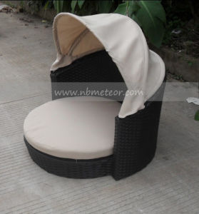 China Mtc 481 Outside Patio Furniture Pet Rattan Canopy Dog Bed Outdoor Furntiure