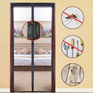 2018 Instant Screen Door Mosquito Net Magnetic Door Curtain Fly Screen Door