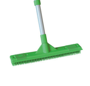 Telescopic Handle Rubber Broom (1404) pictures & photos