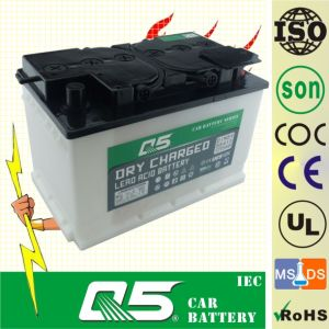 DIN75 12V75AH, Dry Charged Car Battery pictures & photos