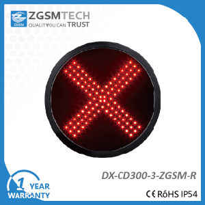300mm Red Cross Aspect LED Signal Modules