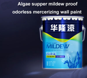 Hualong Algae Supper Mildew Proof &Odorless Mercerizing Wall Paint pictures & photos