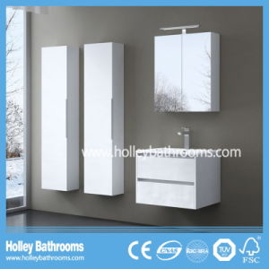 European Style MDF Deluxe Modern Bathroom Accessories with Two Side Vanities (BF117N)