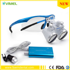 3.5X Colorful Dental Loupe with LED Light pictures & photos