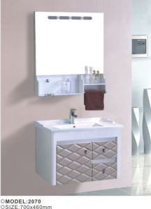 Simple Design Pvc Wall Mouted Bathroom Vaities With Mirror