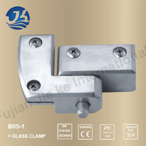Sanitary Ware Stainless Steel Bathroom Hardware Glass Clamp (B05-1)