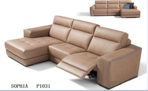 Modern Living Room Sofa with Leather Sectional Recliner Sofa pictures & photos