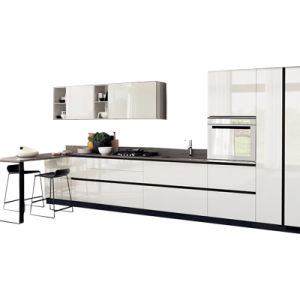 Modern Design High Gloss White Lacquer Kitchen Cabinet