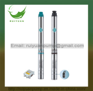 "3.5"" 90qjd 1HP Single/Three Phase Stainless Steel Submersible Borehole Pump for Deep Well (90QJD2-10/0.8KW) pictures & photos"