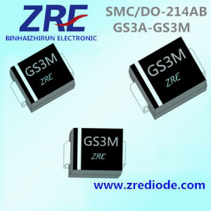 3A GS3a Thru GS3m General Purpose Rectifiers Diode SMC/Do-214ab Package pictures & photos