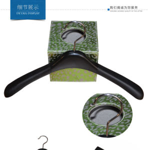Plastic Black Durable Hanger for Female Clothes pictures & photos