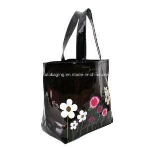 Flower Design Plastic Shopping PVC Bag pictures & photos