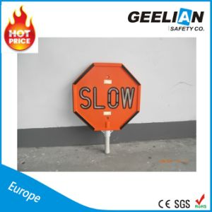 Plastic/Metal Road Safety Sign / Reflective Traffic Warning Sign
