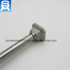 Square Shape Metal Shower Hooks And Shower Curtain Rod