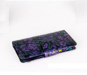 Modern Flower Printed Women Passport Wallet pictures & photos