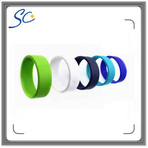 Various Color 13.56 MHz Access Control Silicone RFID Wristband