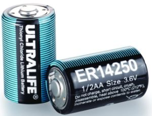 1/2AA 3.6V 1.2ah Lithium Battery for Ammeter (ER14250)