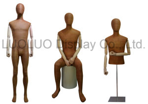High Grade Leather Wrapped Male Mannequin for Store Dress