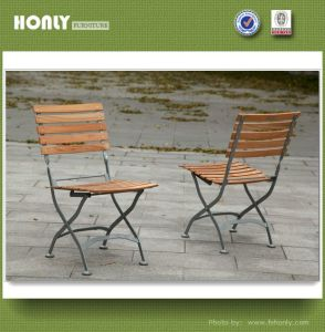 China Teak Wood Folding Chair Wrought Iron Outdoor Chair China