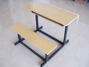 Cheap Double Student Study Desk and Chair pictures & photos