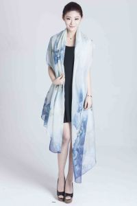 Silk Digital Printed Scarf for Women (12-BR110303-16) pictures & photos