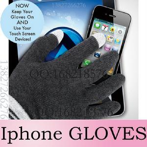 Nylon Acrylic Magic Touch Screen Gloves for iPhone iPad pictures & photos