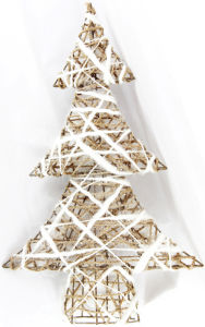 "Tabletop Christmas Decoration White Tree (13*20"")"