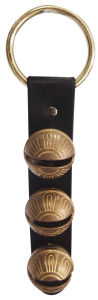 Sleigh Bell with Leather Strap Handing on The Door Db3-H040sr