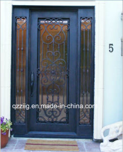 Single Iron Door with Sidelight (ZY-IR064)