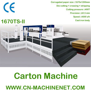 Automatic Platen Die Cutting and Creasing Carton Making Machine