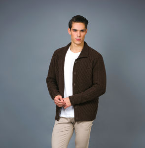 Men′s Fashion Heavy Weight Thicker Yak & Cashmere Blended Jacket