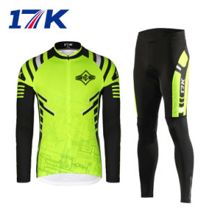17k Long Men China Cycling Clothes with Sublimation Printing