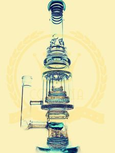 High Quality T1 Heady Cheap Water Recycler Glass Water Pipe Smoking Shop Factory pictures & photos