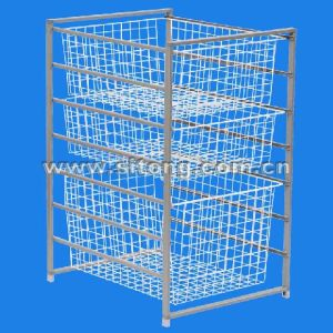 Six Tier Free Standing Powder Coated Wire Drawer (LL-07) pictures & photos