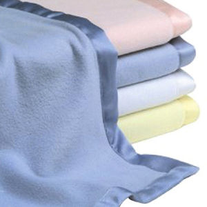 China Polar Fleece Blanket Throw With Satin Trim China Fleece