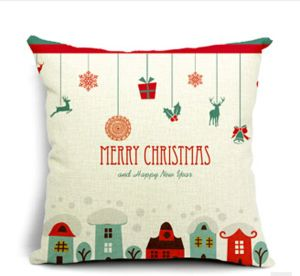 Merry Christmas Gifts to Every Home Cotton Linen Throw Pillow Case