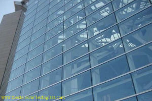 Dark Blue Fire Proofing Glass Grand Mall Building Curtain Wall